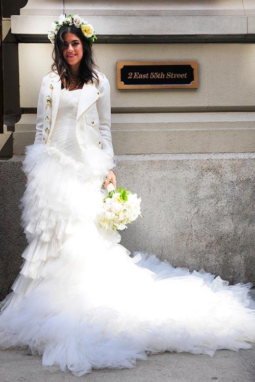 rochie de mireasa cu sacou