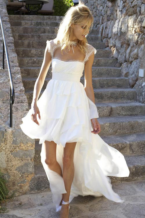 Rochie de mireasa asimetrica