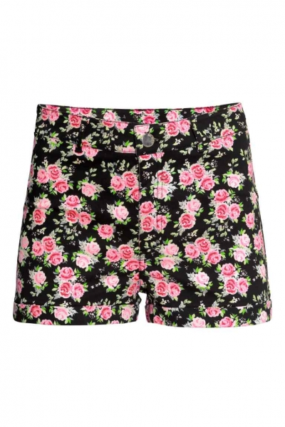 pantaloni scurti flori